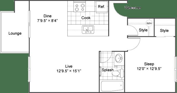One Bedroom Apartments in Lakewood