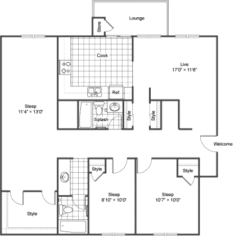 three bedroom apartments in Lakewood