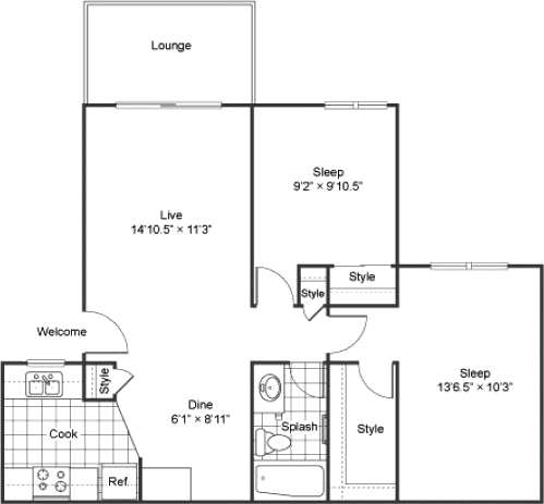 two bedroom apartments in Lakewood